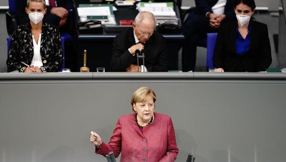 Kanzlerin Merkel: Die Regierungserklärung ist die dritte seit Beginn der Pandemie