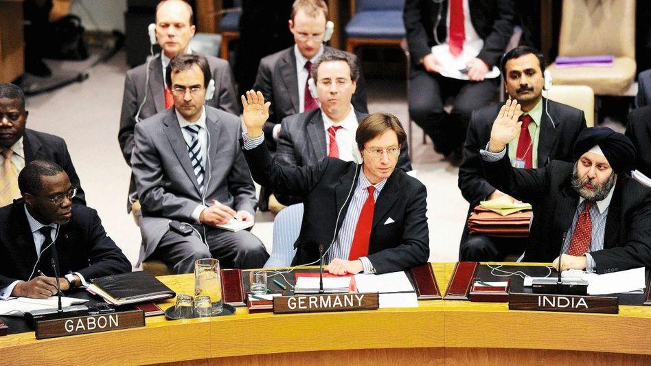 Abstimmung im Uno-Sicherheitsrat am 17. März: »Operative Lücke in der deutschen Position«