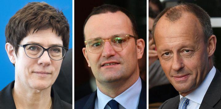CDU-Kandidaten Kramp-Karrenbauer, Spahn und Merz