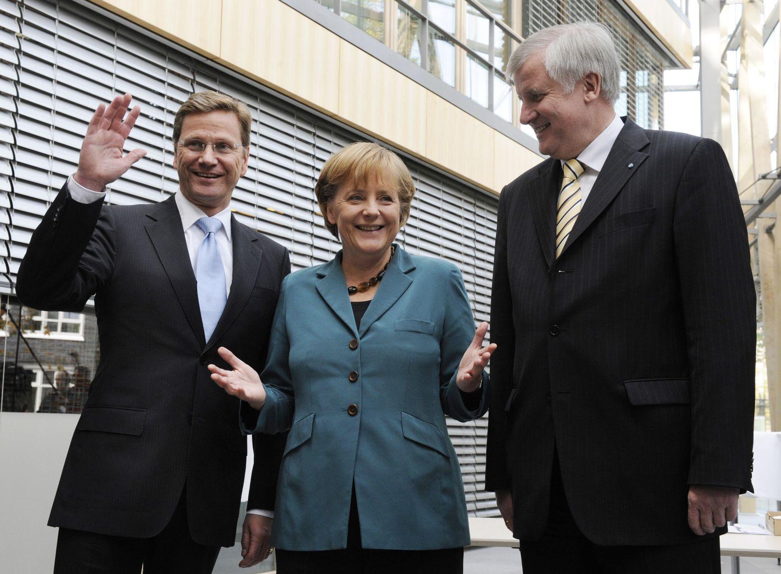 Westerwelle/ Merkel/ Seehofer