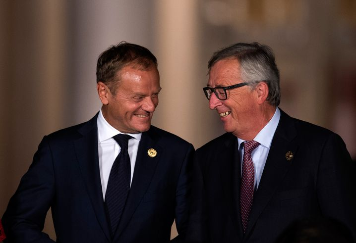 EU-Ratspräsident Donald Tusk, Kommissionschef Jean-Claude Juncker