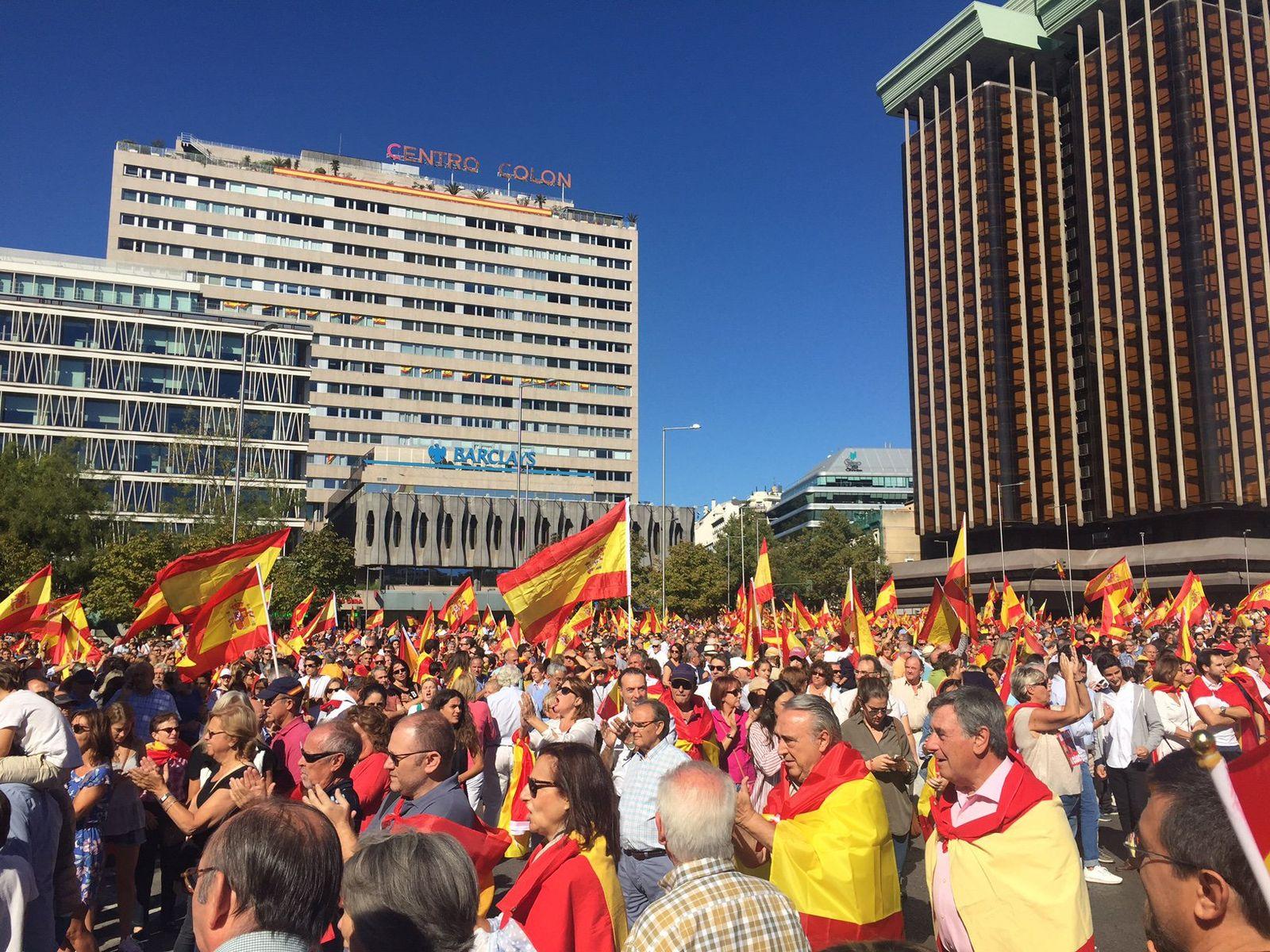 Demonstration in Madrid für Dialog zu Katalonien