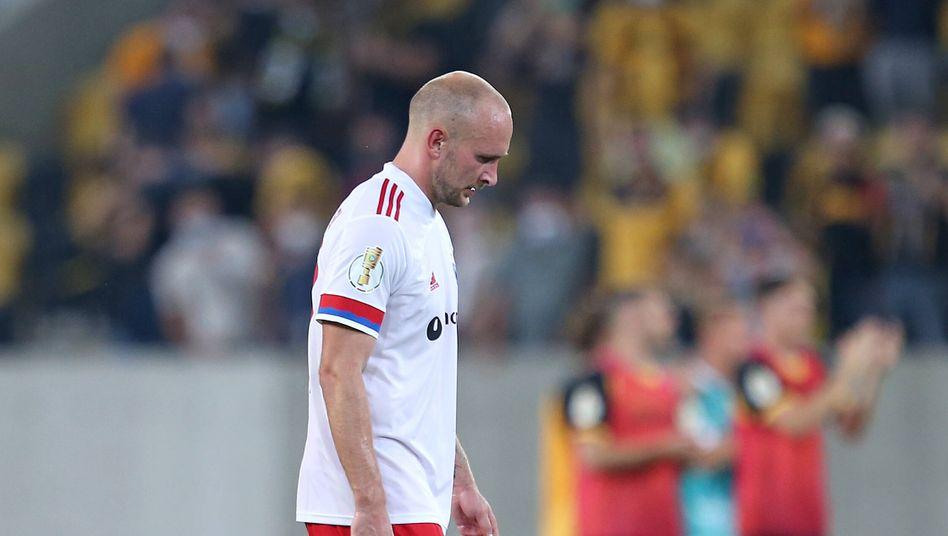 Toni Leistner nach dem verlorenen Pokalspiel gegen Dresden