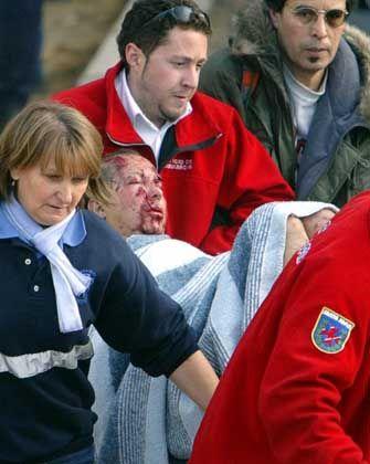 Verletzte Opfer unter Schock: Bomben im Vorortszug