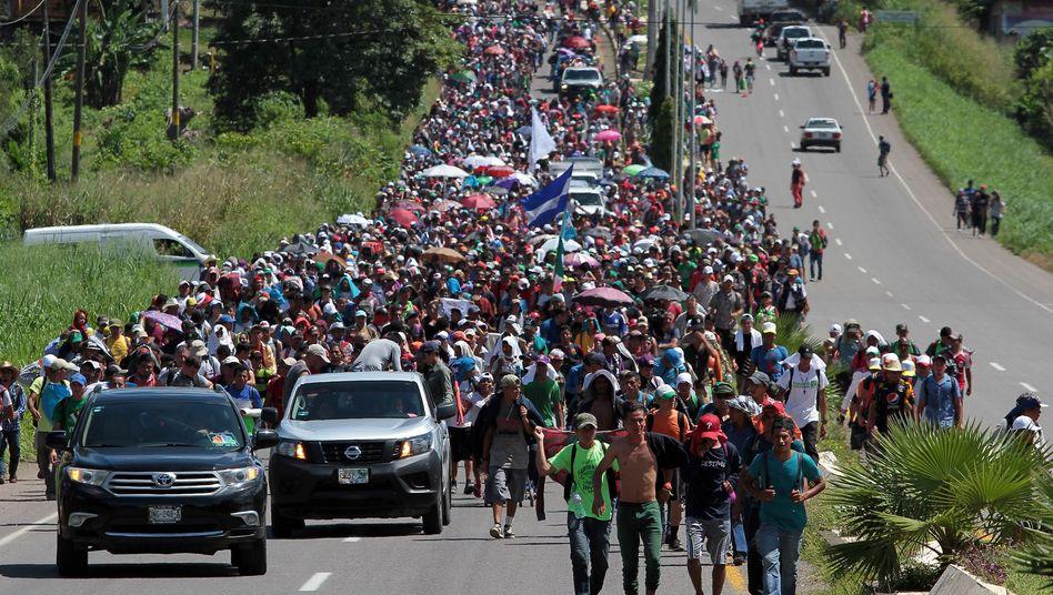 Migranten aus Mittelamerika in Mexiko