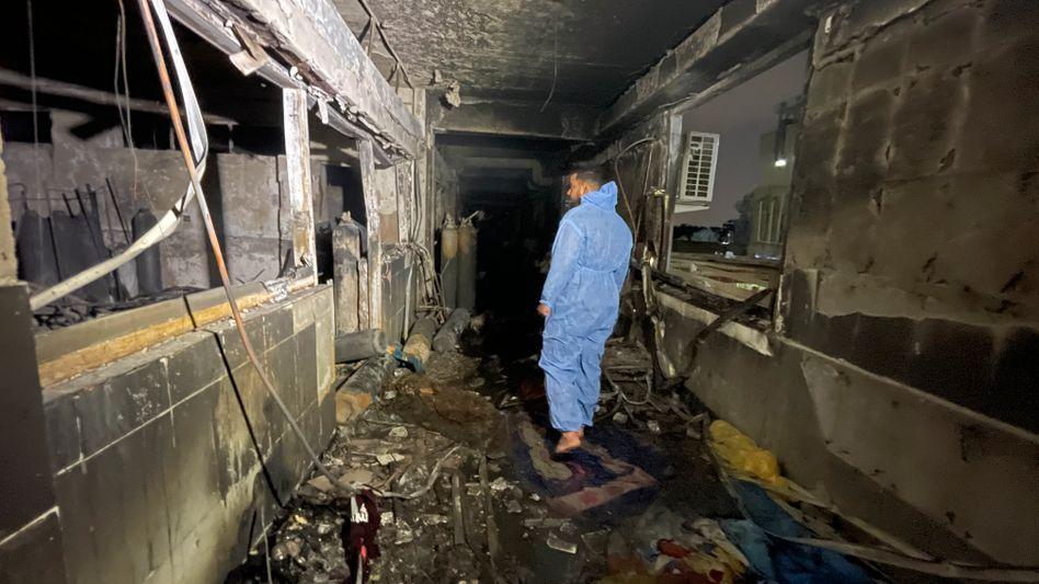 Ausgebrannte Klinik in Bagdad: Intensivstation ohne Brandschutz