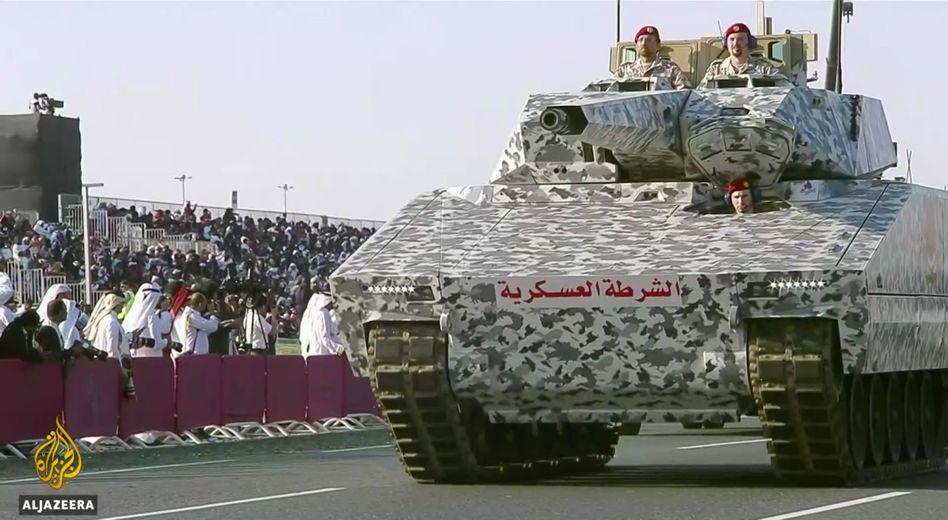 Rheinmetall-Panzer im Dezember in Katar