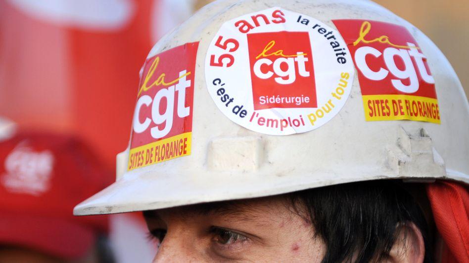 Arbeiter auf Demonstration bei Arcelor-Mittal: Chefetage besetzt