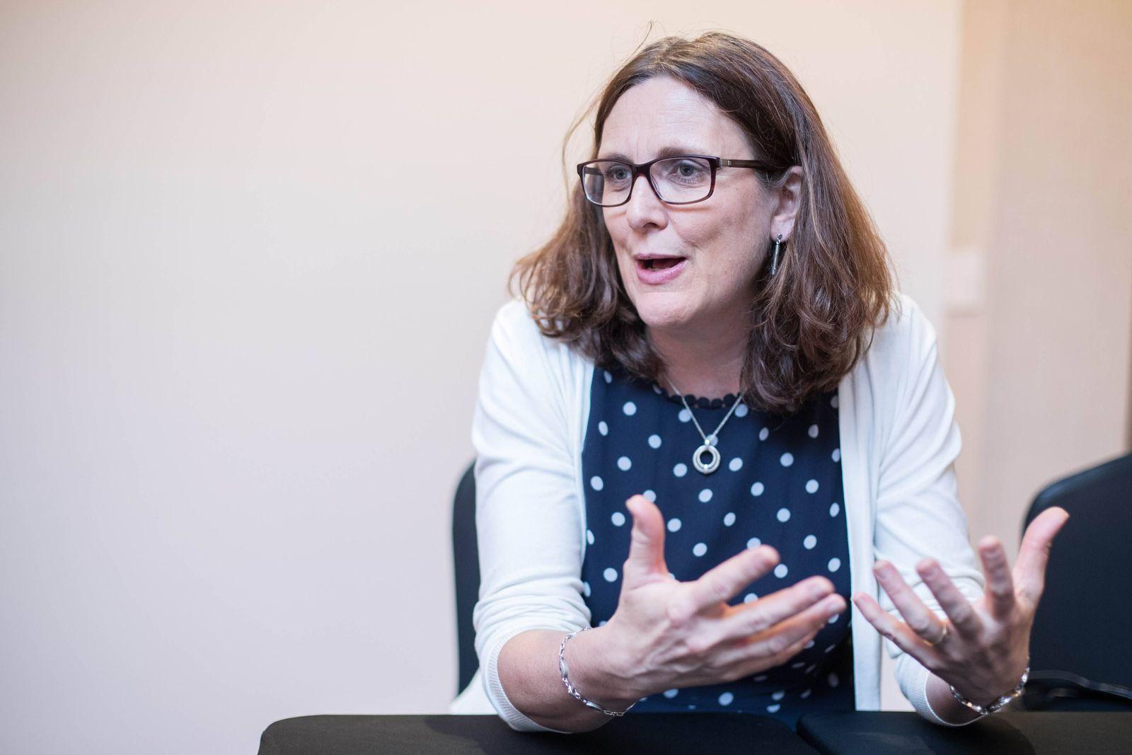 EINMALIGE VERWENDUNG Cecilia Malmström