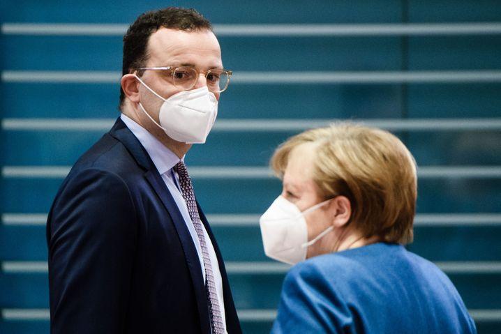 Spahn, Kanzlerin Merkel