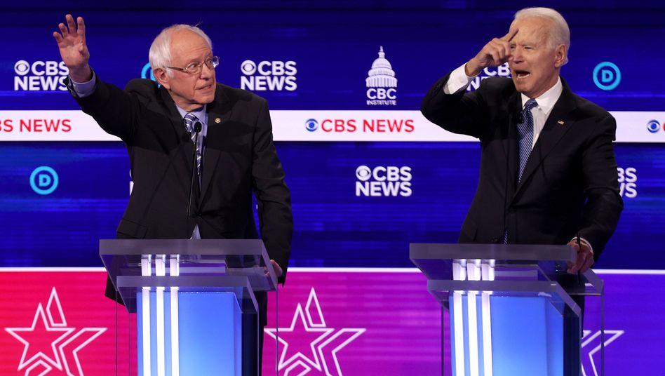 """TV-Debatte in den USA: """"Russland hilft Ihnen"""" – Demokraten attackieren Sanders scharf"""
