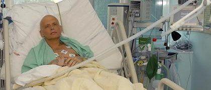 Litwinenko auf dem Sterbebett in London: Mit strahlendem Gift verseucht