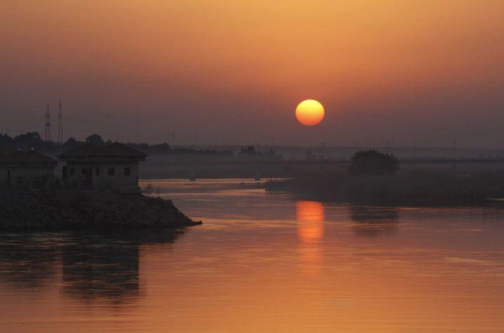 Sonnenuntergang über dem Euphrat
