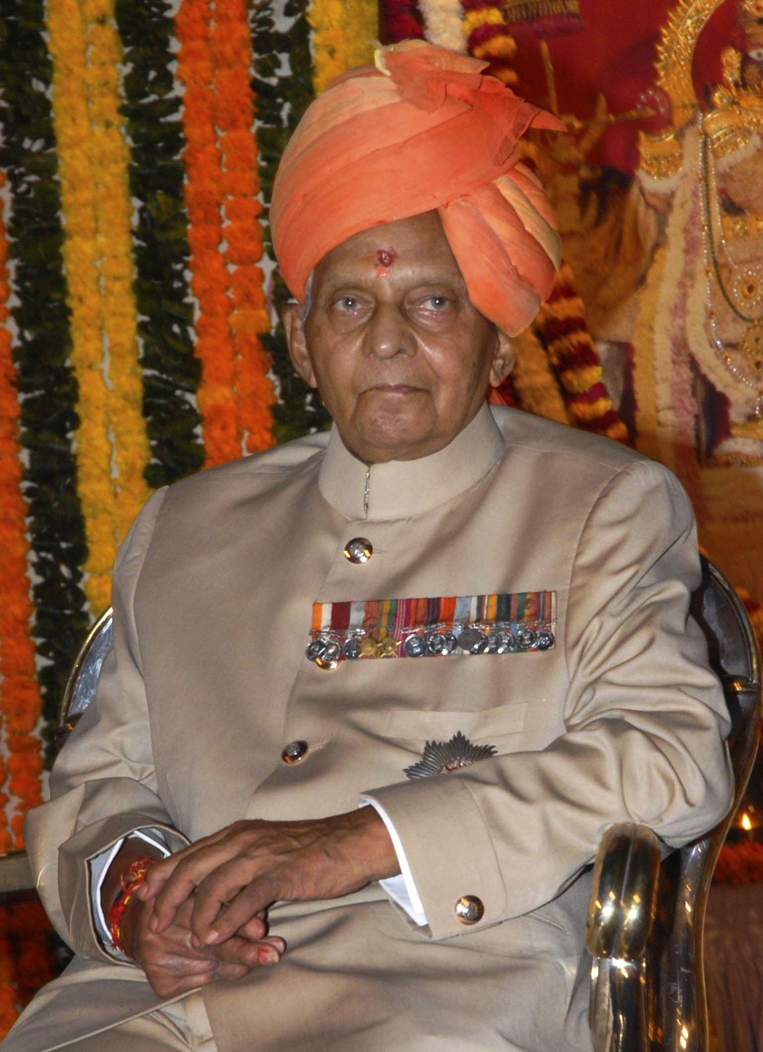 Maharadscha Bhawani Singh von Jaipur