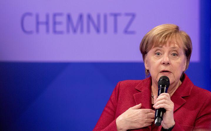 Angela Merkel in Chemnitz