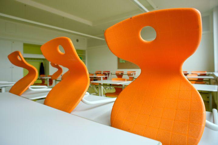 Leeres Klassenzimmer an Sekundarschule in Sachsen-Anhalt