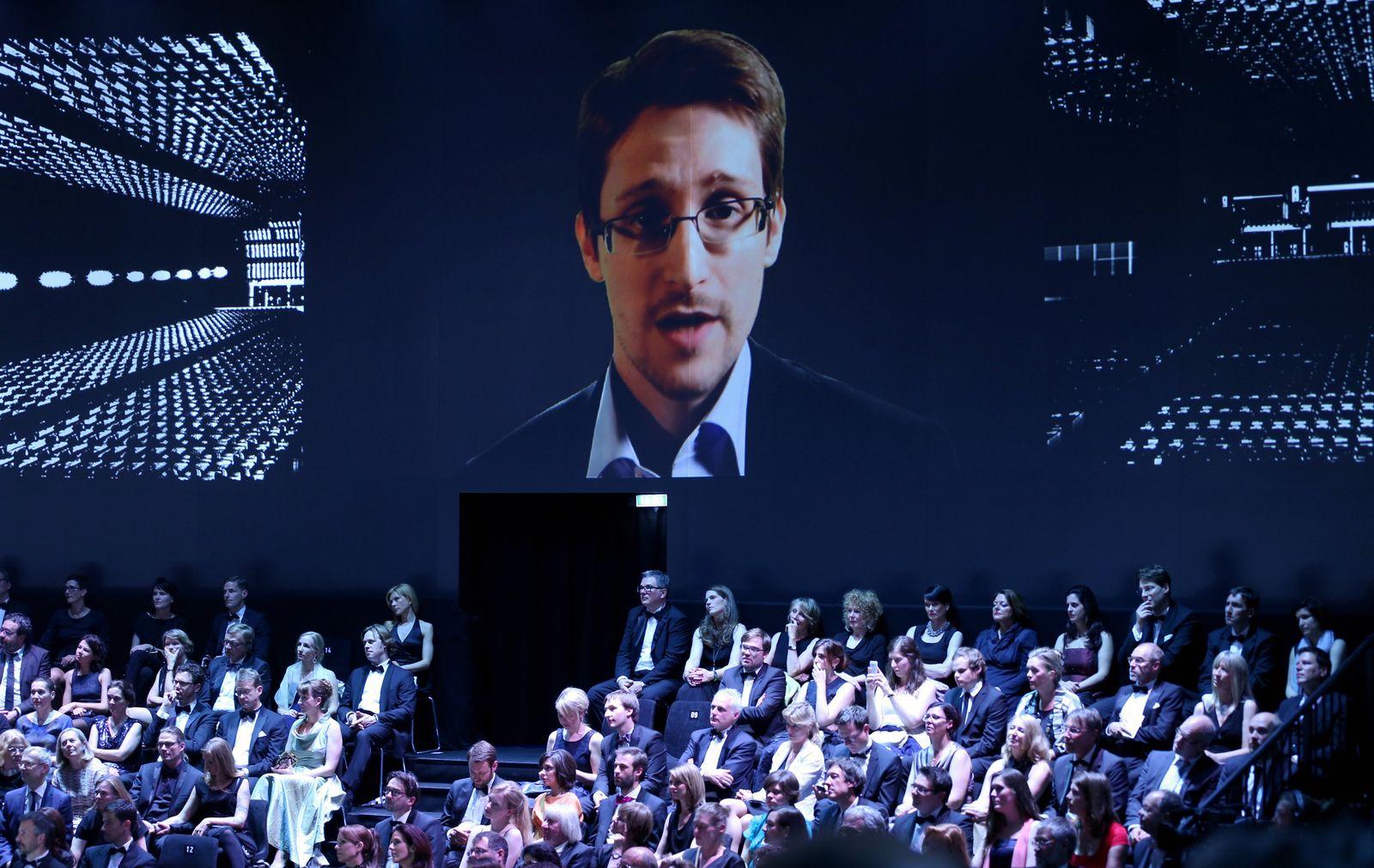 Edward Snowden - Henri Nannen Preisverleihung
