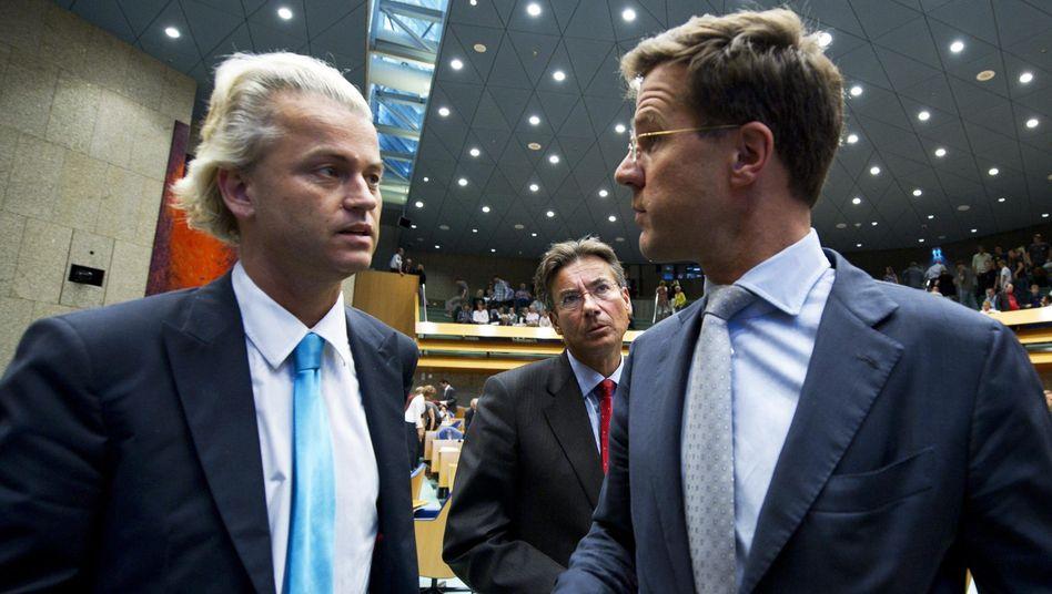 Wilders, Verhagen und Rutte (v.l.n.r.): Verhandlungen über Minderheitsregierung