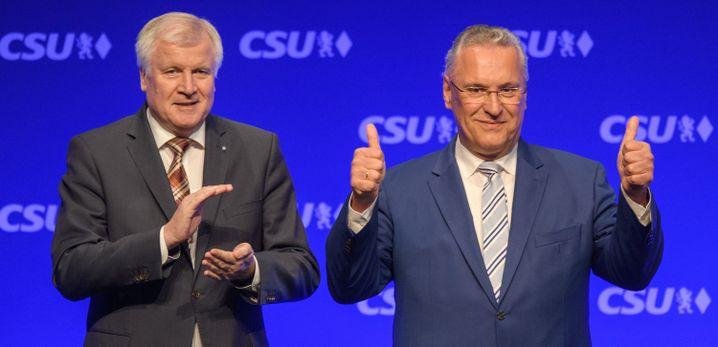 Seehofer, CSU-Spitzenkandidat Herrmann