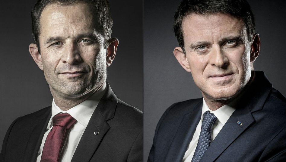 Hamon (l.) und Valls