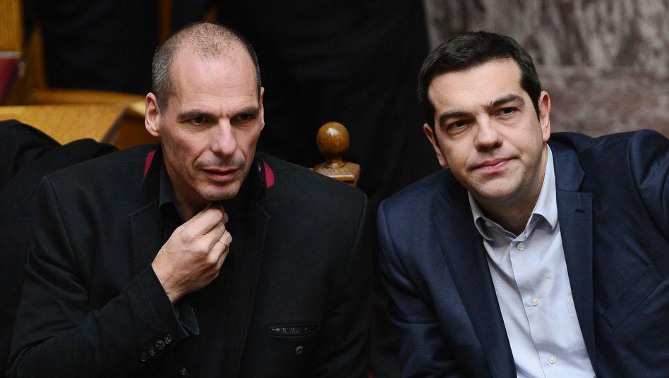 Griechischer Finanzminister Varoufakis, Ministerpräsident Tsipras: Was ihr wollt