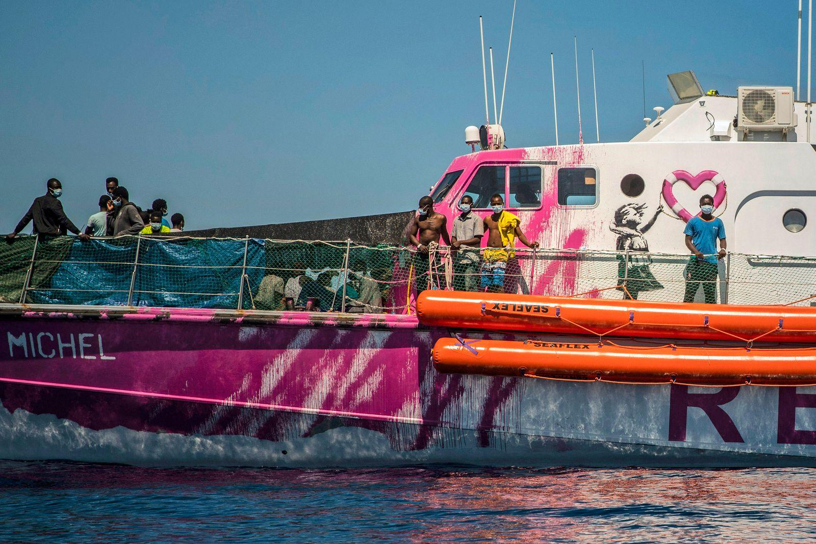 Sea Banksy Rescue Boat