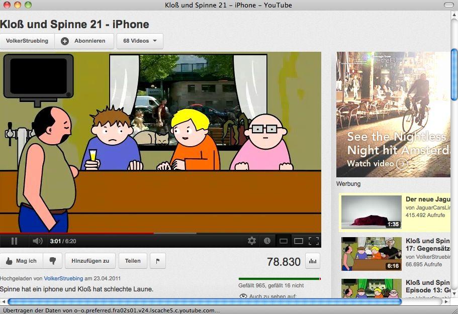 NUR ALS ZITAT Screenshot Youtube iPhone