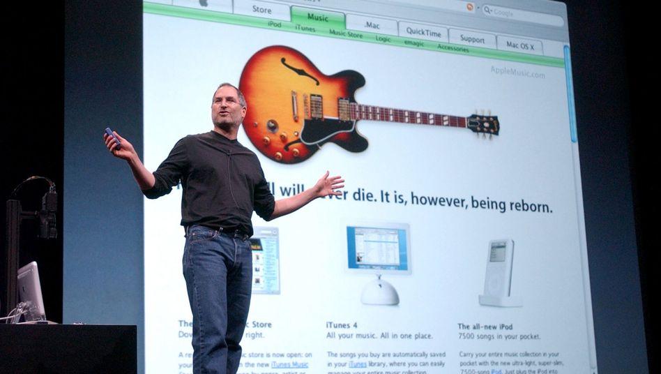 Apple-Chef Steve Jobs: Niedrige Tantieme für Musiker