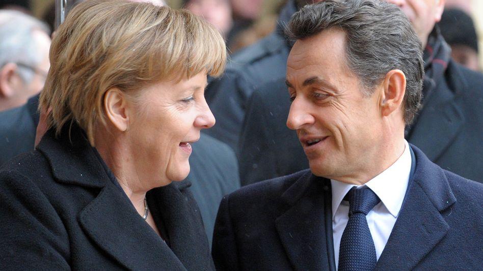 Angela Merkel and Nicolas Sarkozy (in December): A taxing marathon summit is expected.