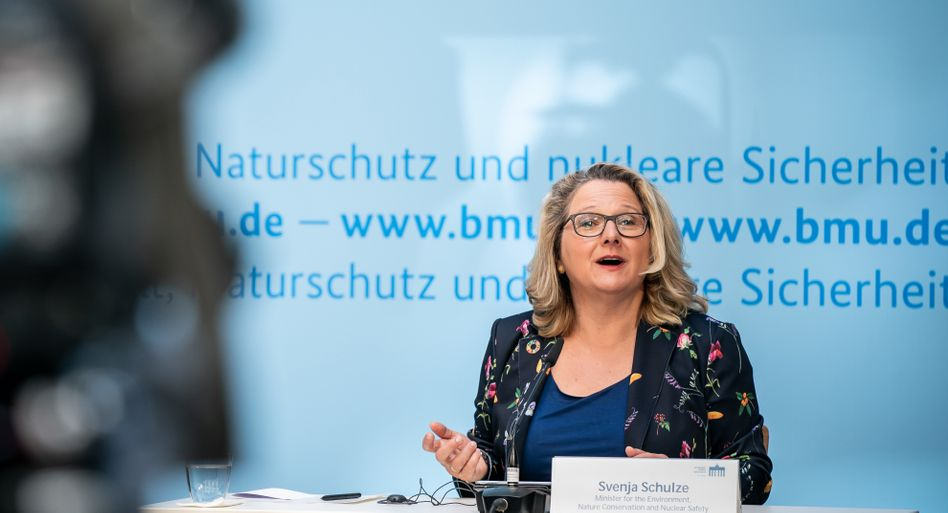 Svenja Schulze beim Auftakt zum 11. Petersberger Klimadialog