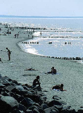 Strandbad bei Königsberg, dem russischen Kaliningrad