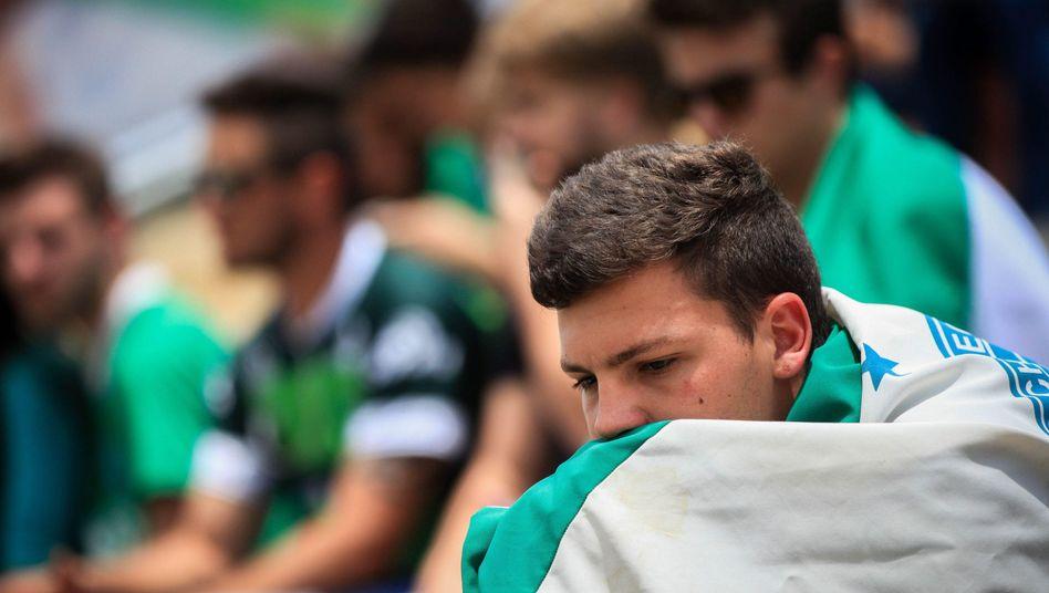 Trauernde Chapecoense-Fußballfans