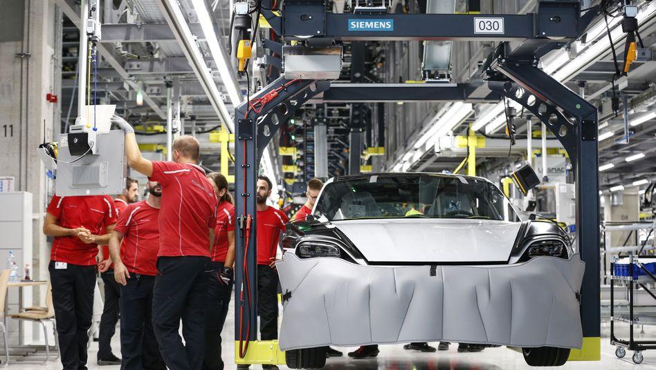 Autofertigung bei Porsche in Stuttgart (Archivfoto)