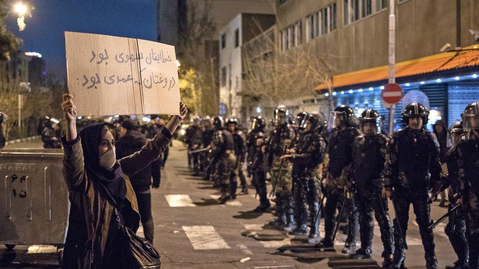 Demonstrantin in Teheran