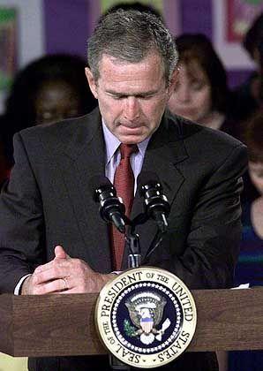 """US-Präsident Bush am Tag der Anschläge: """"Eindeutig terroristische Akte"""""""