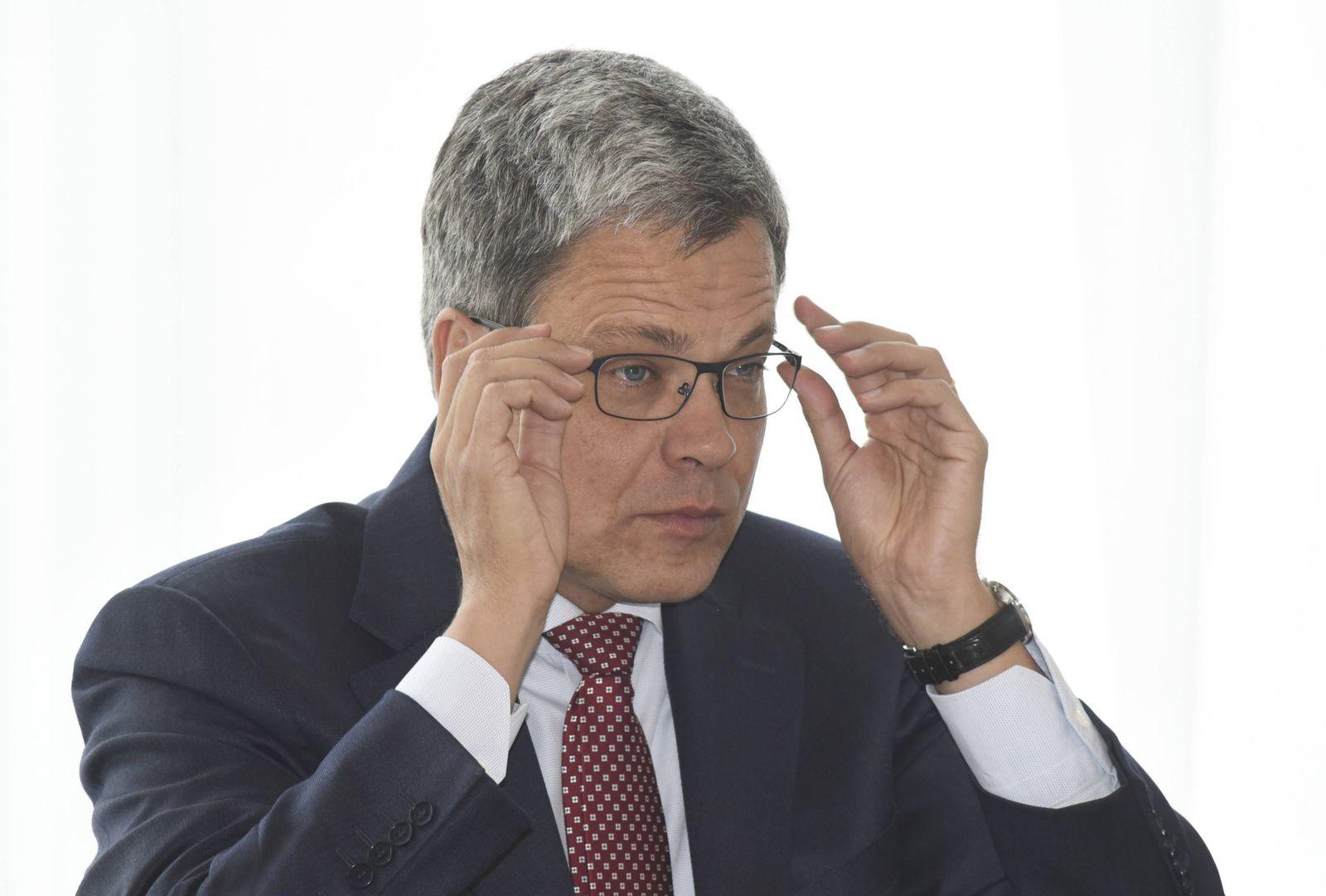 Deutschland, Muenchen, 19.09.2017 Manfred Knof, seit 2015 Chef der Allianz Deutschland, verlaesst nach Informationen da