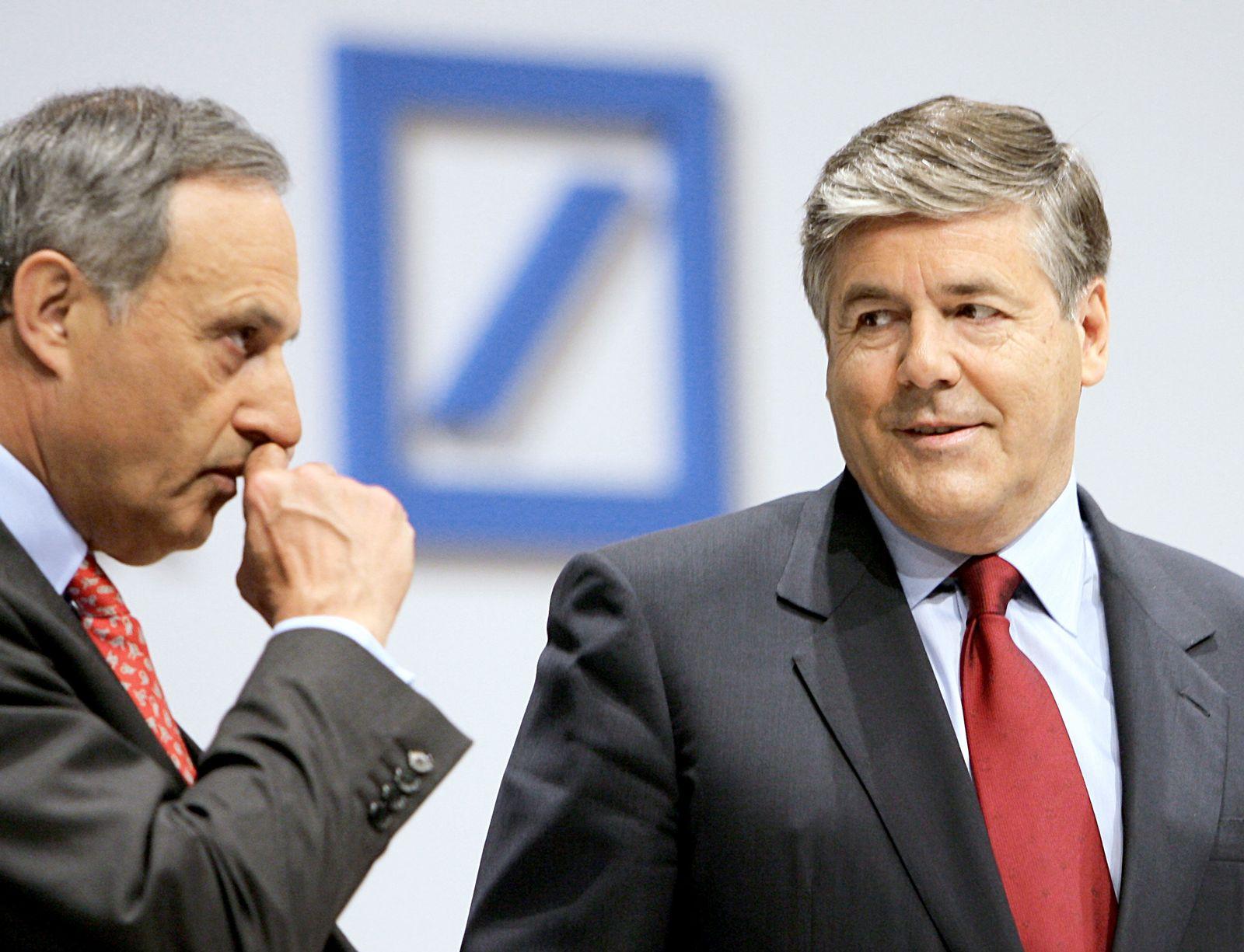 Deutsche Bank Ackermann Börsig