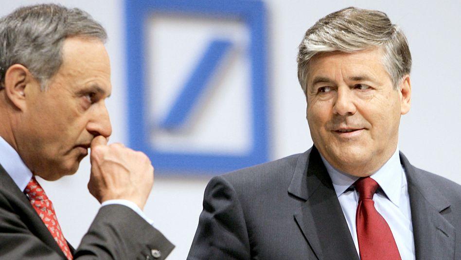 Börsig (l.) und Ackermann: Aufsichtsratschef und Bankenboss verstehen sich nicht mehr