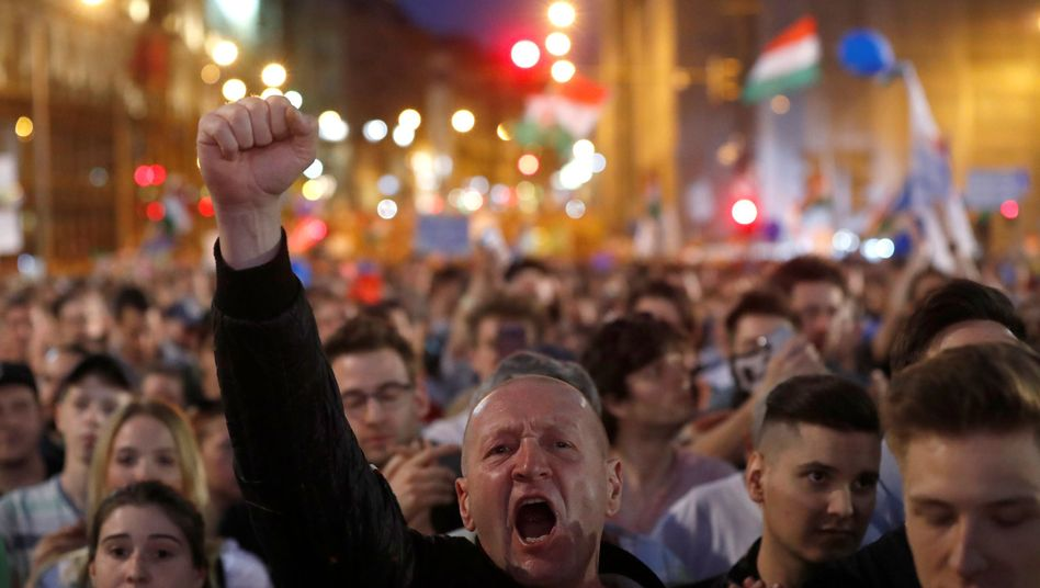 Anti-Orbán-Protest in Budapest (Archiv)
