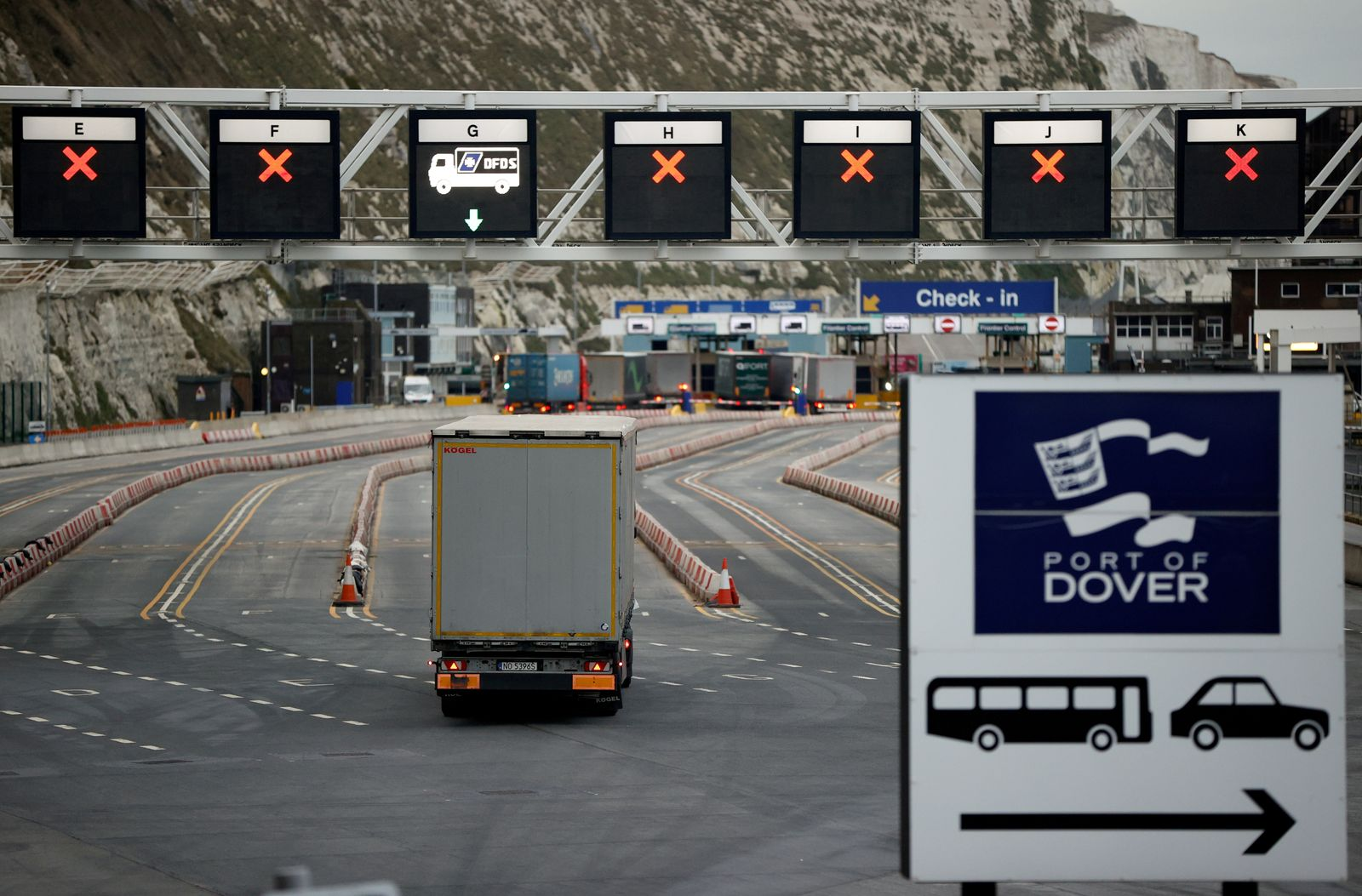 FILE PHOTO: Border control at the Port of Dover