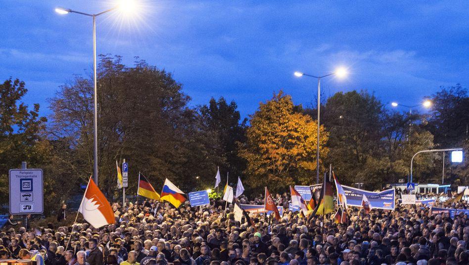 Demonstration in Erfurt: Tausende folgten dem Aufruf der AfD