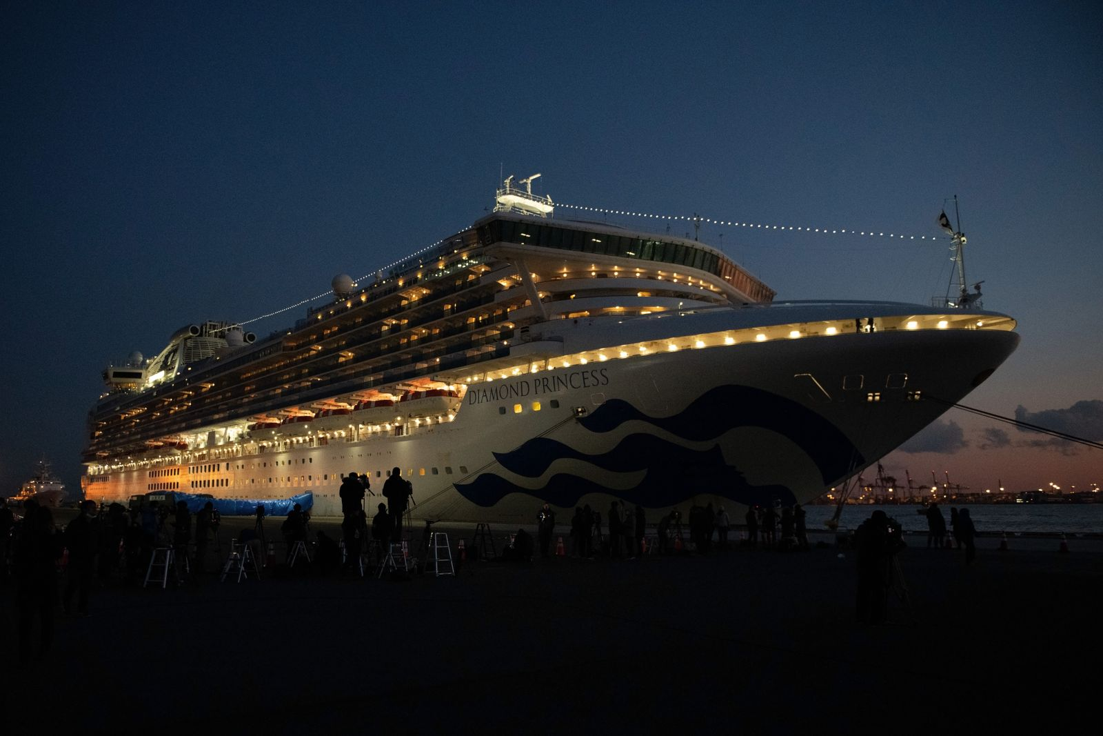 *** BESTPIX *** Diamond Princess Cruise Ship Remains Quarantined As Coronavirus Cases Grow