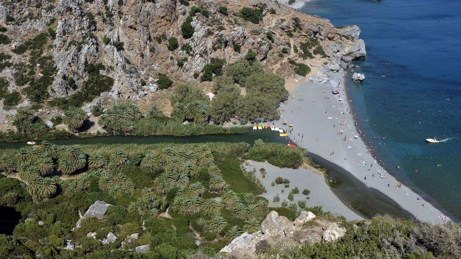 Palmenstrand von Preveli auf Kreta