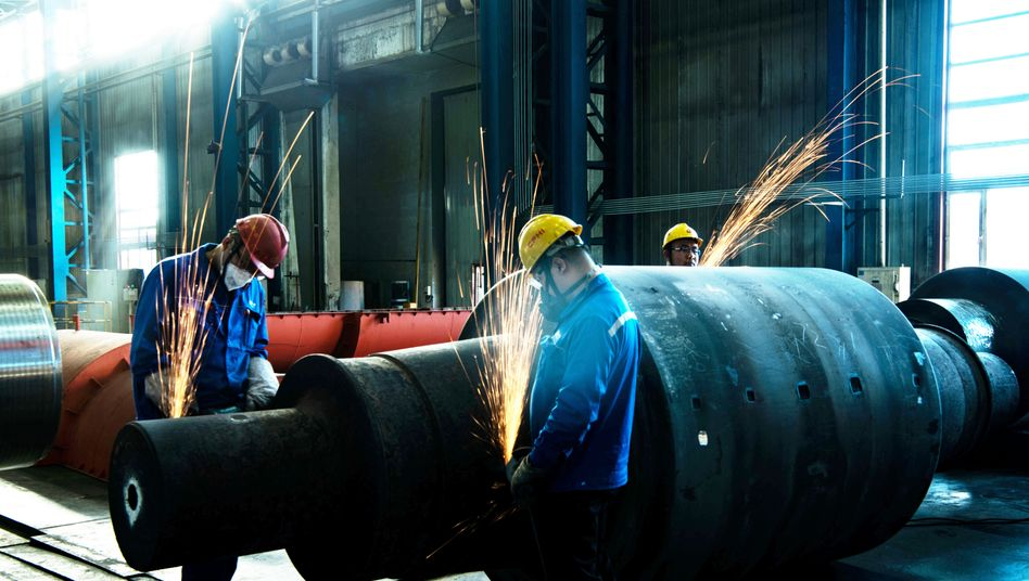 Alltag vor Corona: Fabrik im chinesischen Qiqihar Anfang 2019