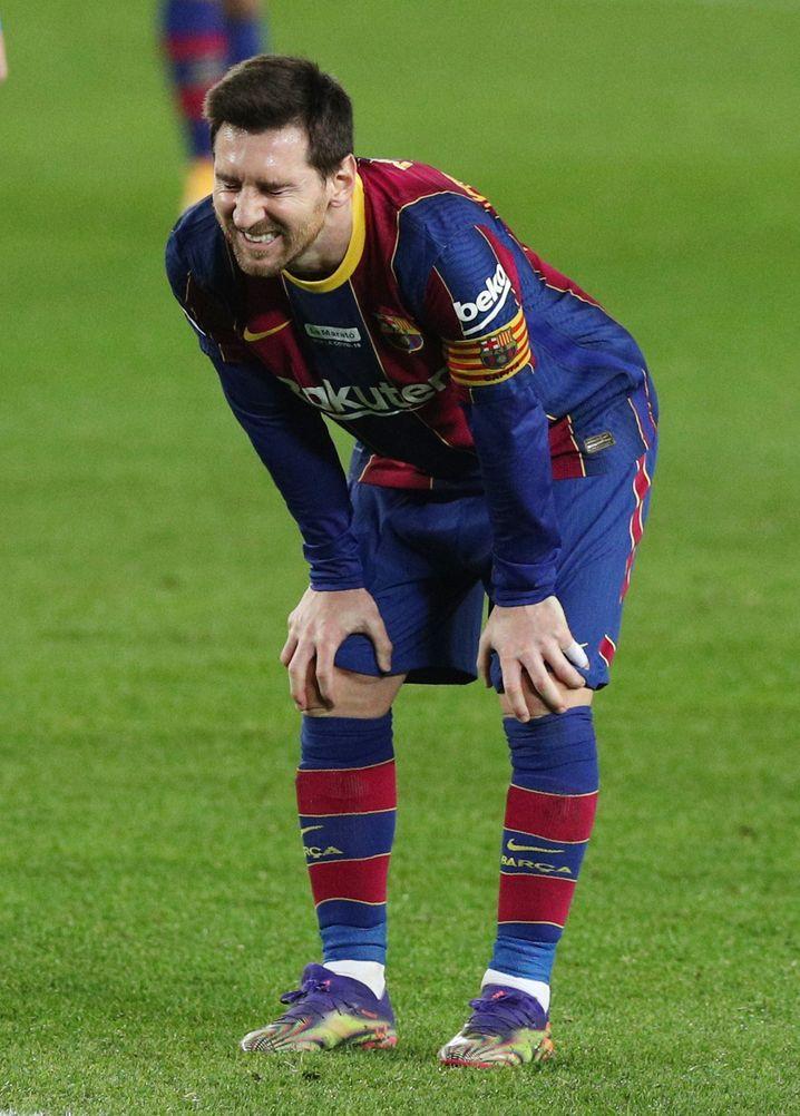 Wirkte trotz seines Torrekords unzufrieden: Lionel Messi