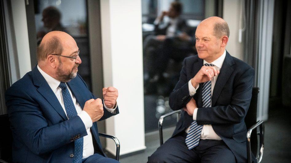 Martin Schulz, Olaf Scholz