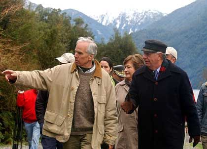 President of Chile Ricardo Lagos (left) has been friendlier to Tompkins than his predecessor.