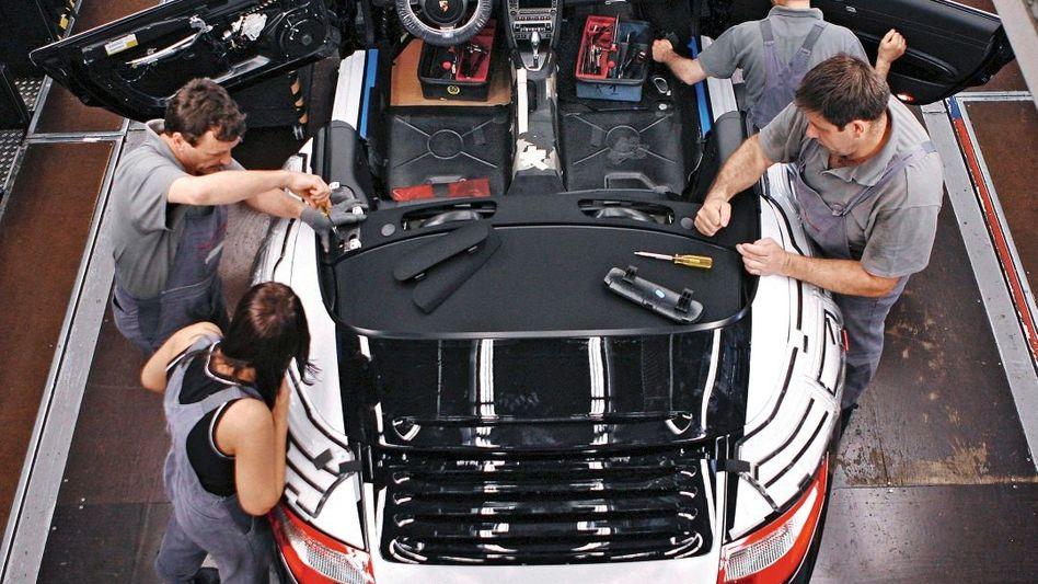 Porsche-Produktion in Stuttgart