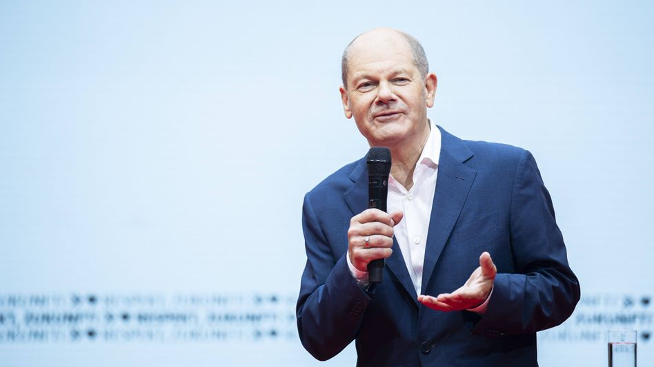 Olaf Scholz: Der SPD-Kanzlerkandidat zeigt sich ungeachtet der schlechten Umfragewerte optimistisch