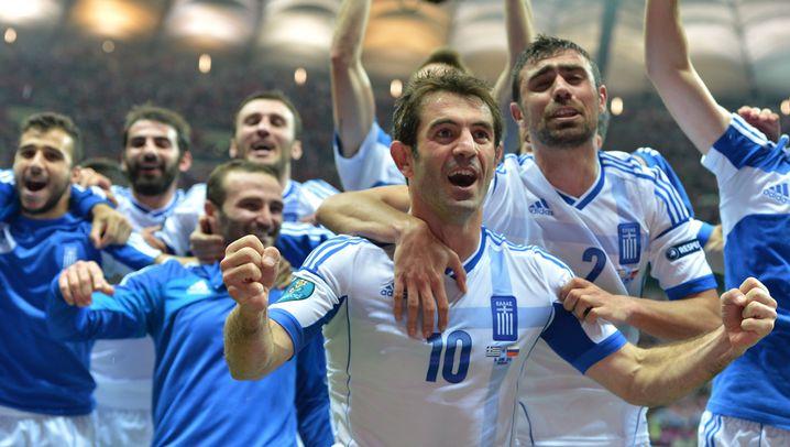 Griechenland im Viertelfinale: Jubelstürme dank Volksheld Karagounis